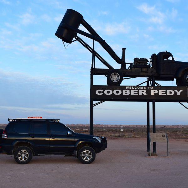 The famous Coober Pedy landmark