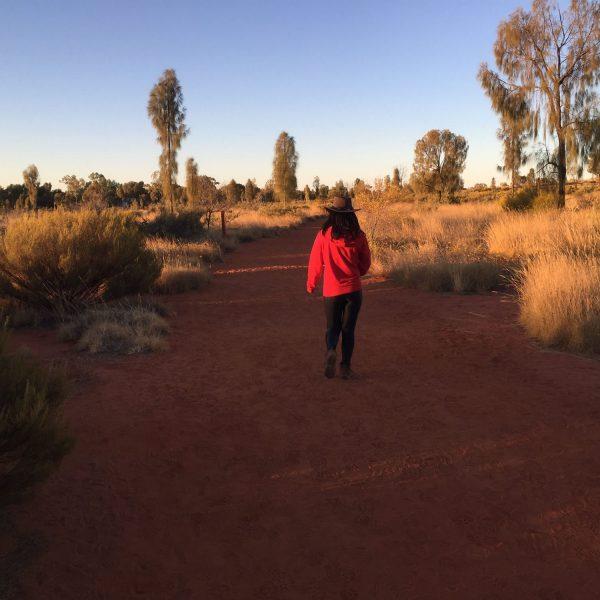 Walking in the red heart of Australia
